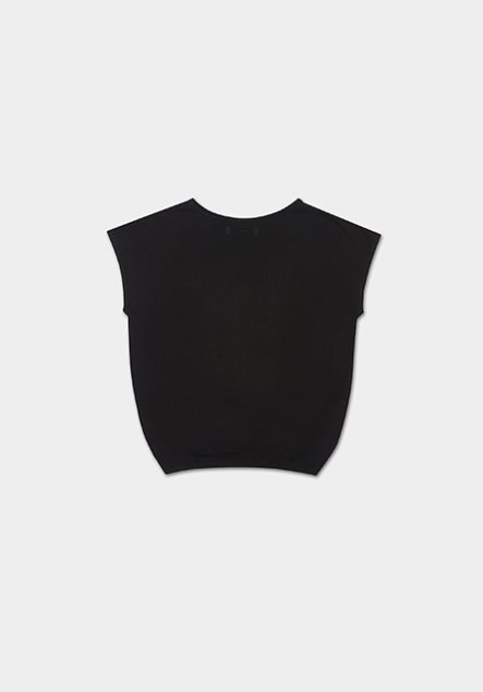 [SET] LINEN TOP (BLACK)