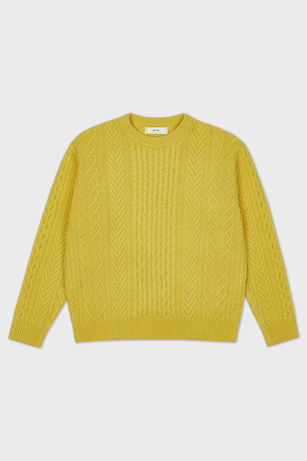 WOOL CABLE KNIT (YELLOW)