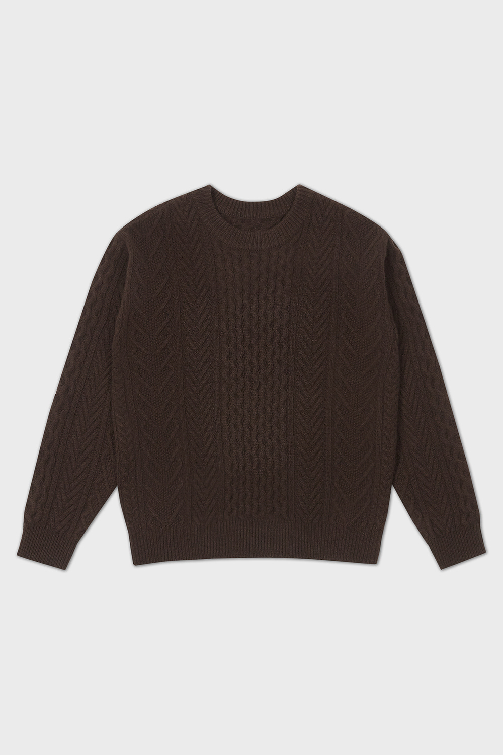 WOOL CABLE KNIT (BROWN)